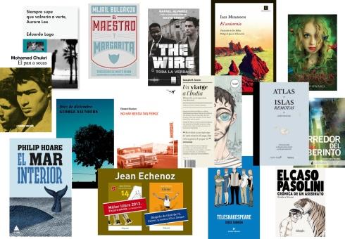 Algunos de los títulos de las editoriales que participan en el Máster de Edición de Taller de los Libros.