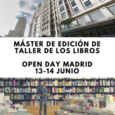 Máster de Edición de Taller de los Libros. Máster de Edición en Madrid. Curso de Edición Profesoinal. Curso de Edición en Madrid